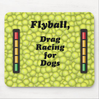 Flyball Iron Dog, - 10 years of competition! Mouse Pad