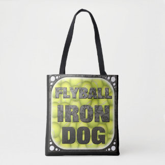 Flyball Iron Dog - 10 years of competition! Tote Bag