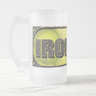 Flyball Iron Dog Frosted Beer Mug