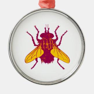 Flyby Metal Ornament