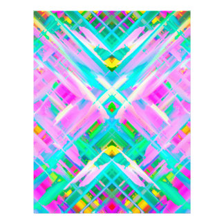 Flyer Colorful digital art splashing G473