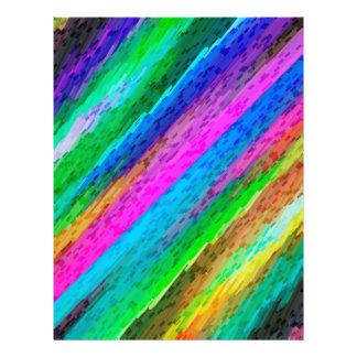 Flyer Colorful digital art splashing G478