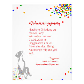 Flyer Doggenwelpe Party