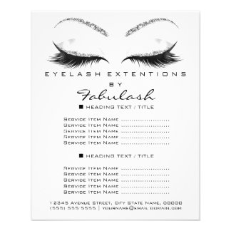 Flyer Makeup  Beauty Glitter Silver White Lashes