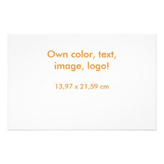 Flyer uni White - Own Color