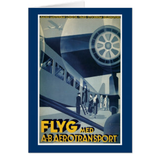 Flyg Med A-B Aerotransport Card