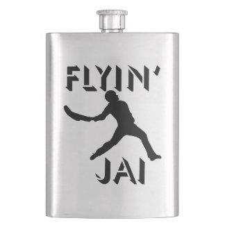 Flyin' Jai black silhouette Hip Flask