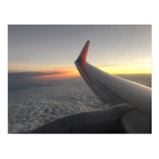 Flying Above The Clouds Postcard