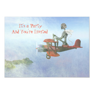 Flying Ace Party Invitation
