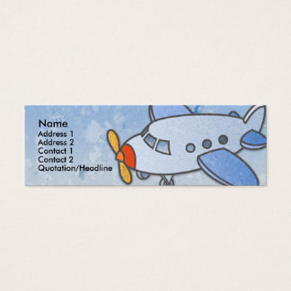 Flying Airplane Skinny Profile Cards