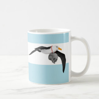 Flying Albatross With Human Skull Coffee Mug