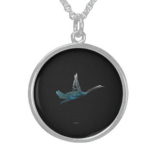 Flying Alone Sterling Silver Necklace