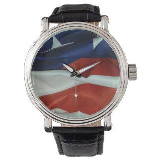 Flying American flag Watch