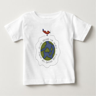 Flying Around the world Baby T-Shirt