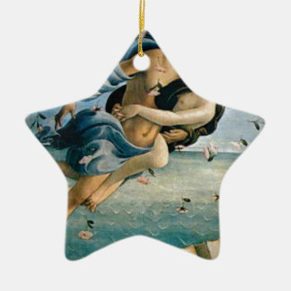 flying away in love ceramic ornament