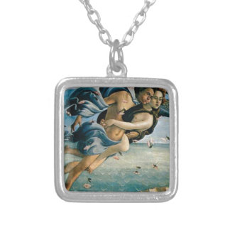 flying away in love silver plated necklace