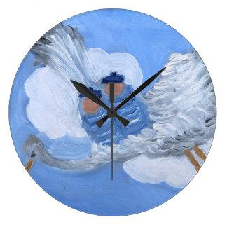 Flying Babies and Stork Nursery Clock