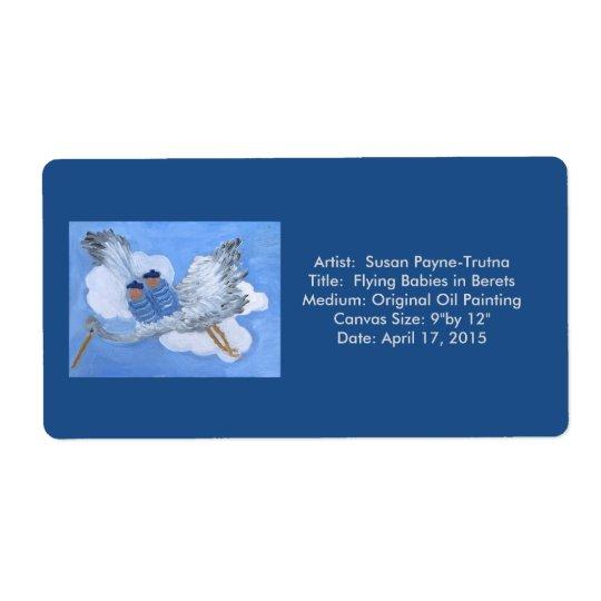 Flying Babies in Berets Label:Susan Payne-Trutna