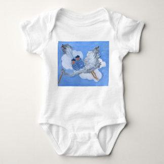 Flying Baby Boys and Stork clothing Baby Bodysuit