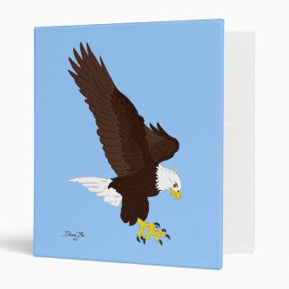 Flying Bald Eagle 3 Ring Binder