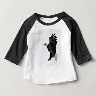 Flying Bald Eagle Baby T-Shirt