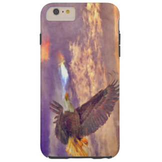 Flying Bald Eagle & Crepuscular Sky Wildlife Art Tough iPhone 6 Plus Case
