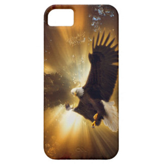Flying Bald Eagle & Forest Sunburst iPhone 5 Case