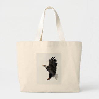 Flying Bald Eagle Large Tote Bag
