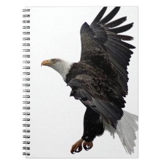 Flying Bald Eagle Notebook