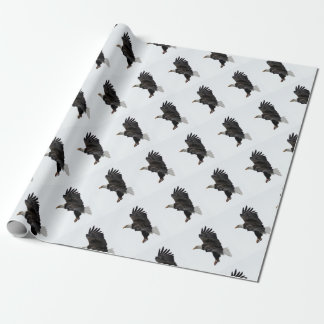 Flying Bald Eagle Wrapping Paper