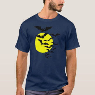 Flying Bats over a Full Moon T-Shirt