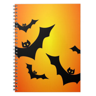 Flying Bats Spiral Notebook