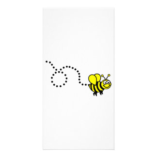 Flying bee customized photo card