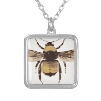 Flying Bee Silver Plated Necklace