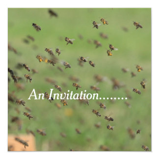 Flying Bees - Personalised Party Invitation