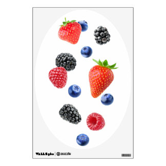 Flying berries wall sticker
