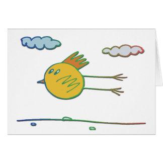 Flying Bird Greeting Card