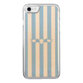 Flying Bird with Stripes Carved iPhone 8/7 Case