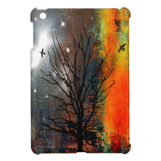Flying Birds and Starry Sky Landscape iPad Mini Covers