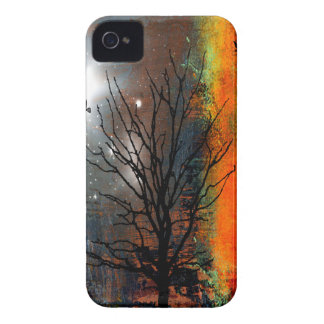 Flying Birds and Starry Sky Landscape iPhone 4 Cases