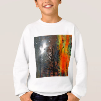 Flying Birds and Starry Sky Landscape Sweatshirt