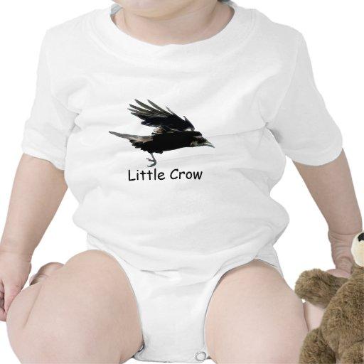Flying Black CROW Art for Baby Tshirt