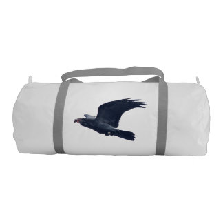 Flying Black Raven Wildlife Image II Gym Bag