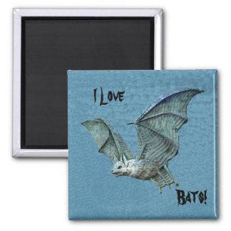 Flying Blue Bat Relief Magnet