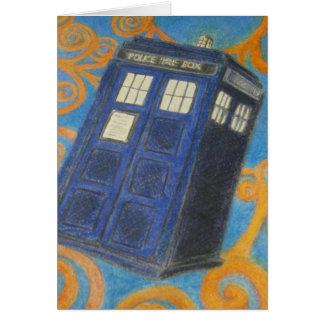 Flying Blue Box Card