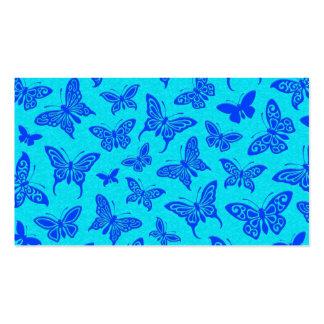Flying Blue Butterflies Pattern Business Card