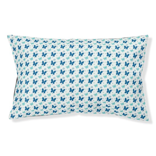 Flying Blue Butterflies Pet Bed