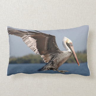 Flying brown pelican MoJo Pillow