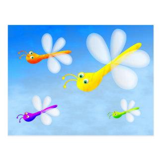 Flying Bugs Postcard