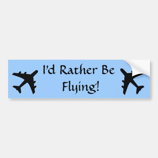 Flying Bumper Sticker